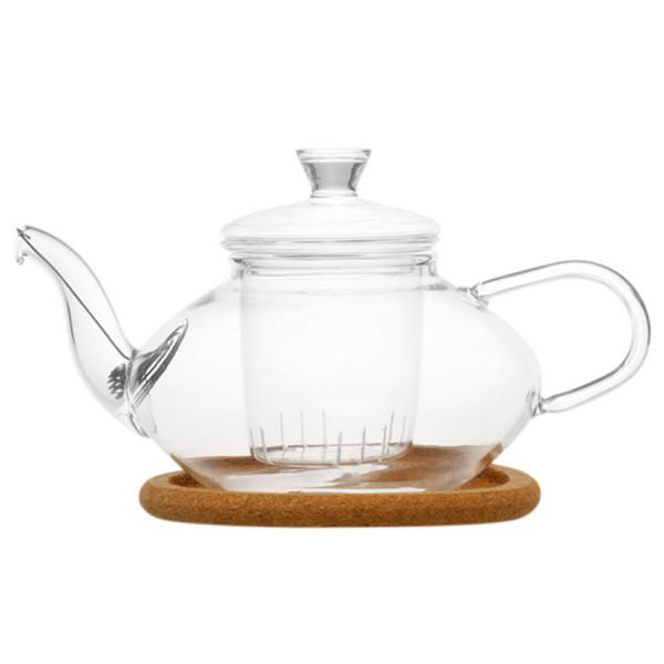 """Чайник """"ЖАСМИН"""" из жаропрочного стекла, объем 500 мл"""