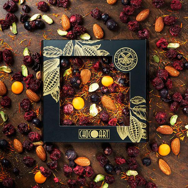 Колумбийский горький шоколад ВИШНЯ-МИНДАЛЬ-ЧЕРНАЯ СМОРОДИНА