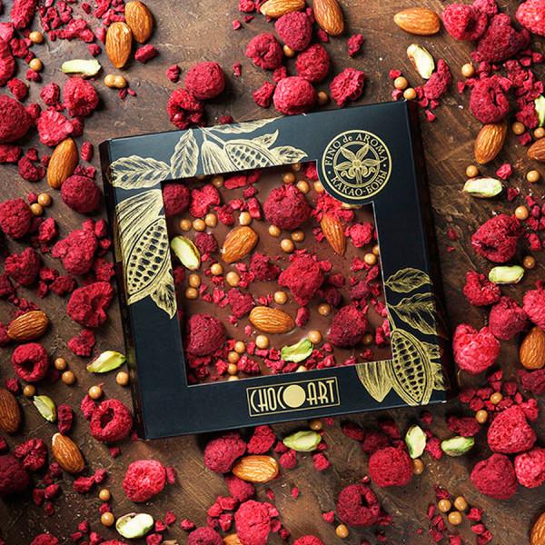 Колумбийский молочный шоколад МАЛИНА-МИНДАЛЬ