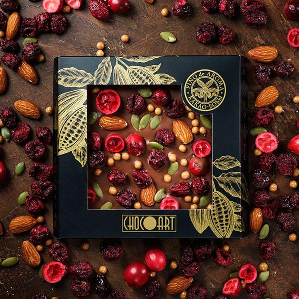 Колумбийский молочный шоколад ВИШНЯ-КЛЮКВА-МИНДАЛЬ