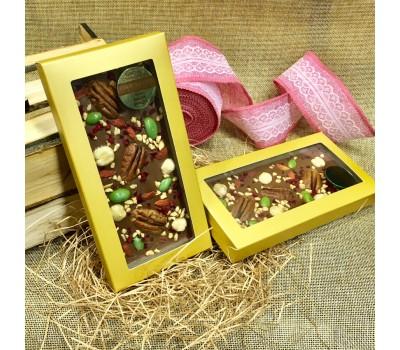 Шоколадная плитка 100 г ПЕКАН-ВИШНЯ-ФУНДУК